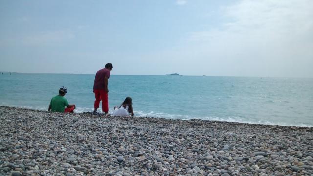 Avkopplande stund på stranden.